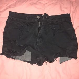 VS PINK Black High Waisted Denim Shorts | Size 4